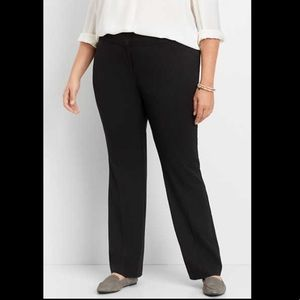 Lane Bryant Black Stretch Career Trouser Pants 16L